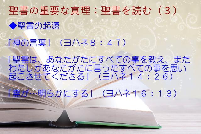聖書の起源:新約聖書の各書は聖霊からであり、それらには神聖な権威がある「神の言葉」「聖霊は、あなたがたにすべての事を教え」「霊が…明らかにする」:聖書の重要な真理【聖書を読む】(3)