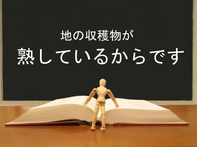 地の収穫物が熟しているからです:回復訳聖書と他の日本語訳との比較(41)