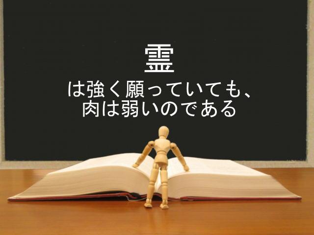霊は強く願っていても、肉は弱いのである:回復訳聖書と他の日本語訳との比較(73)