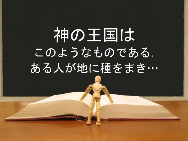 神の王国はこのようなものである.ある人が地に種をまき…:回復訳聖書と他の日本語訳との比較(77)